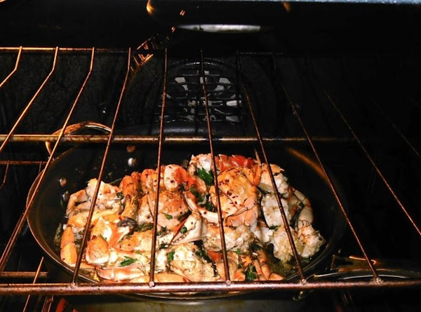 Preheat oven to 375 degrees.  Place crabs in oven and bake 12-15 minutes....