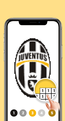 Pixel Art Football Coloring - Color by Number