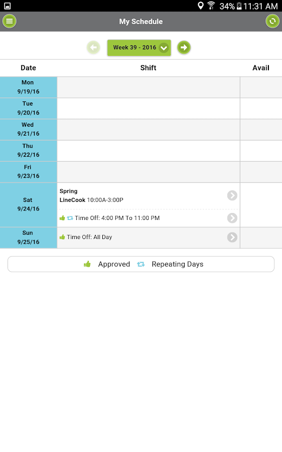 Ctuit Schedules- screenshot