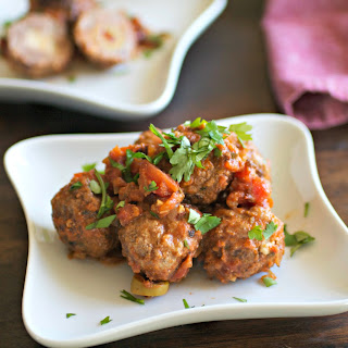 Stuffed Meatballs in Chipotle Tomato Sauce