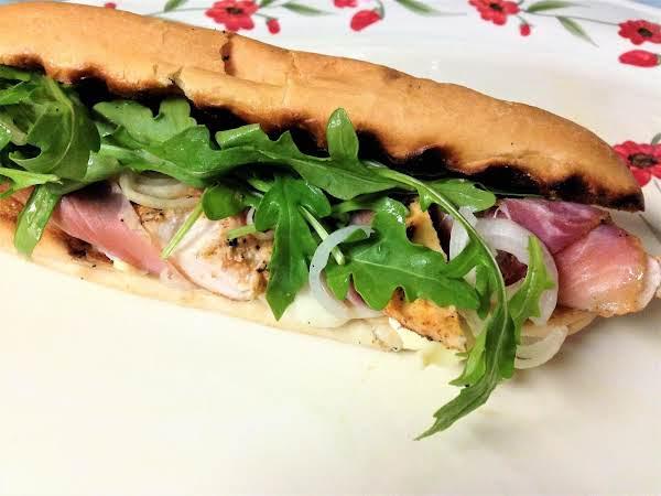 Grilled Ham, Chicken, And Gruyere Sandwiches