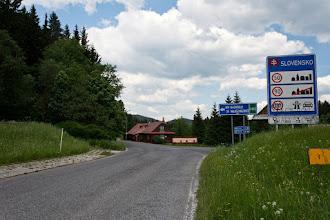 Photo: Końcówka to stromy podjazd na przełęcz.
