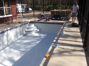 Photo: December 20, 2012 Work on the pool has come quite a way in just a day.