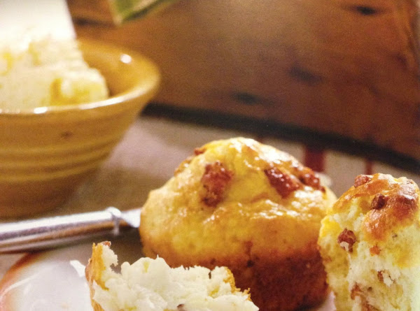 Good Morning Bacon Muffins With Sweet Onion Butter Recipe