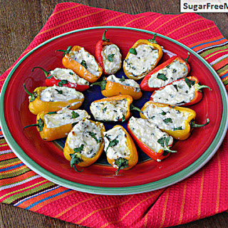 Low Carb Cheesy Sweet Pepper Poppers.