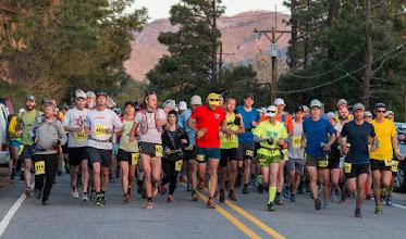 Photo: Start of 50 km run at Posse Shack; Jemez Mountain Trail Runs