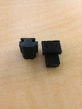 Photo: A pair of finished (ish, I did a little more razor work after) Makerslide Endstop Mounts.