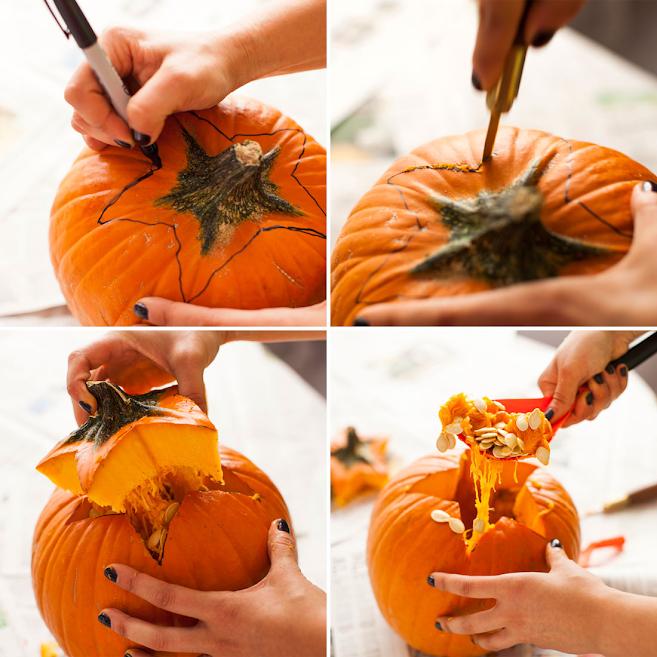 Cách khắc bí ngô Halloween
