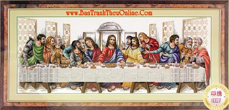 """Photo: Tranh thêu chữ thập """"Bữa tiệc của Chúa"""" mã YHD8053"""