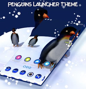Penguins Launcher Theme - náhled