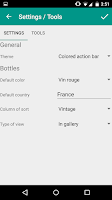 Screenshot of My cellars and tastes