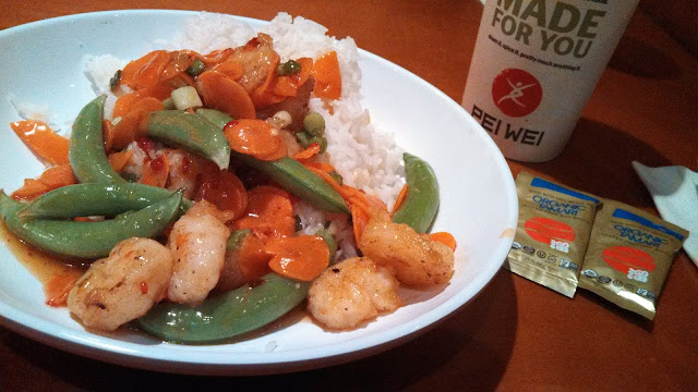 Spicey Shrimp with GF soy sauce