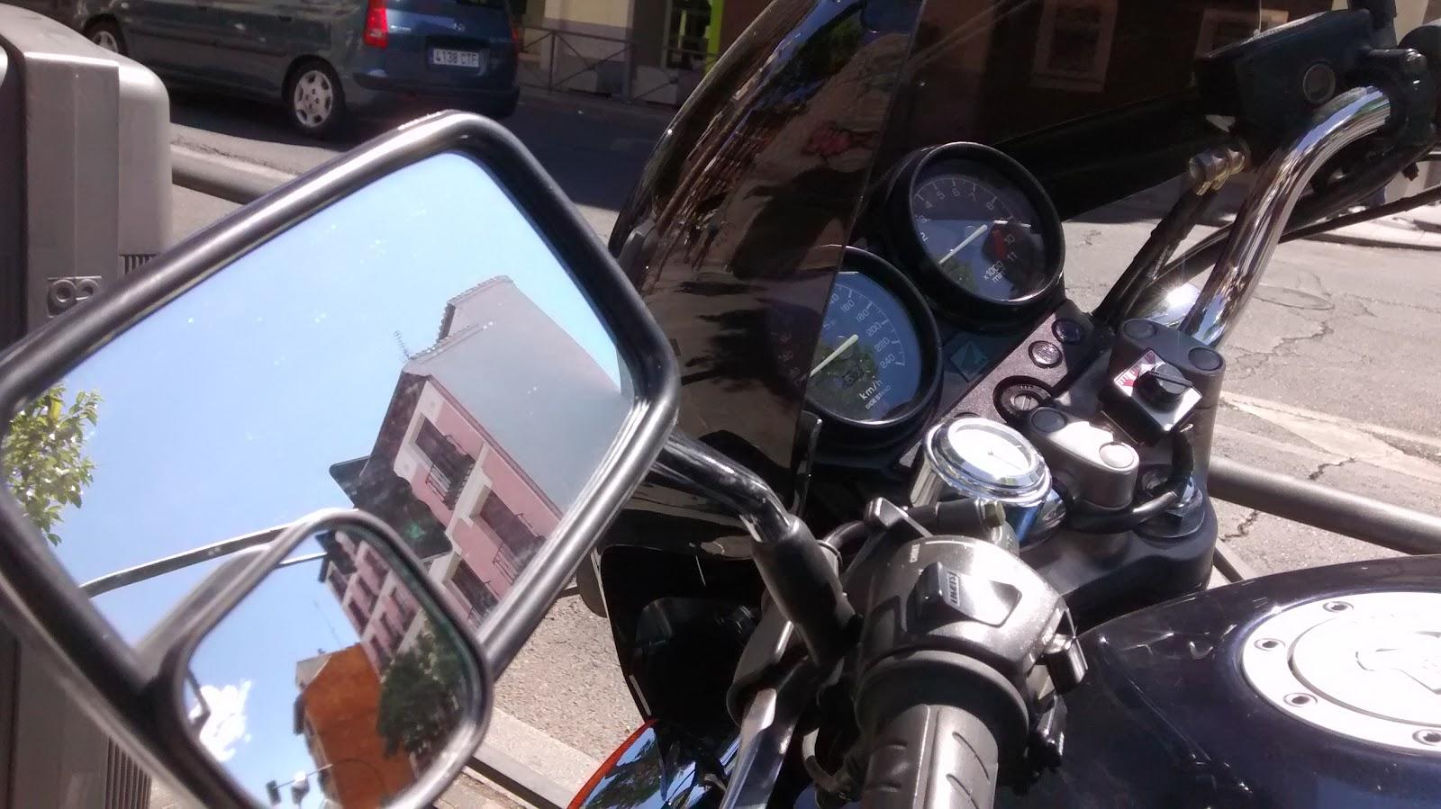 Espejo convexo para retrovisor de moto