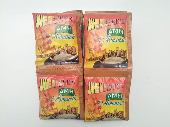 Jahe Merah Amanah Super habbat gingseng madu minuman herbal menghangatkan tubuh flu demam batuk