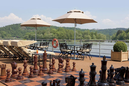Relax on the sun deck during your travels along the Danube River aboard Uniworld's S.S. Beatrice.