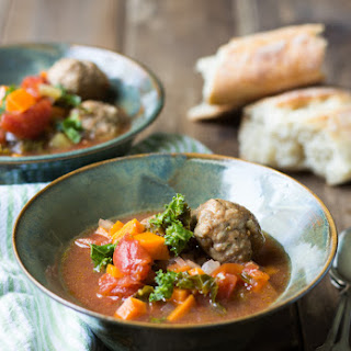 Chicken Meatball Vegetable Soup
