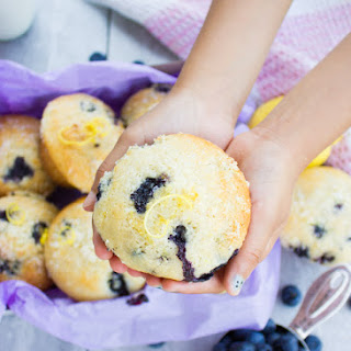 Blueberry Muffins With Lemon Sugar Crunch.