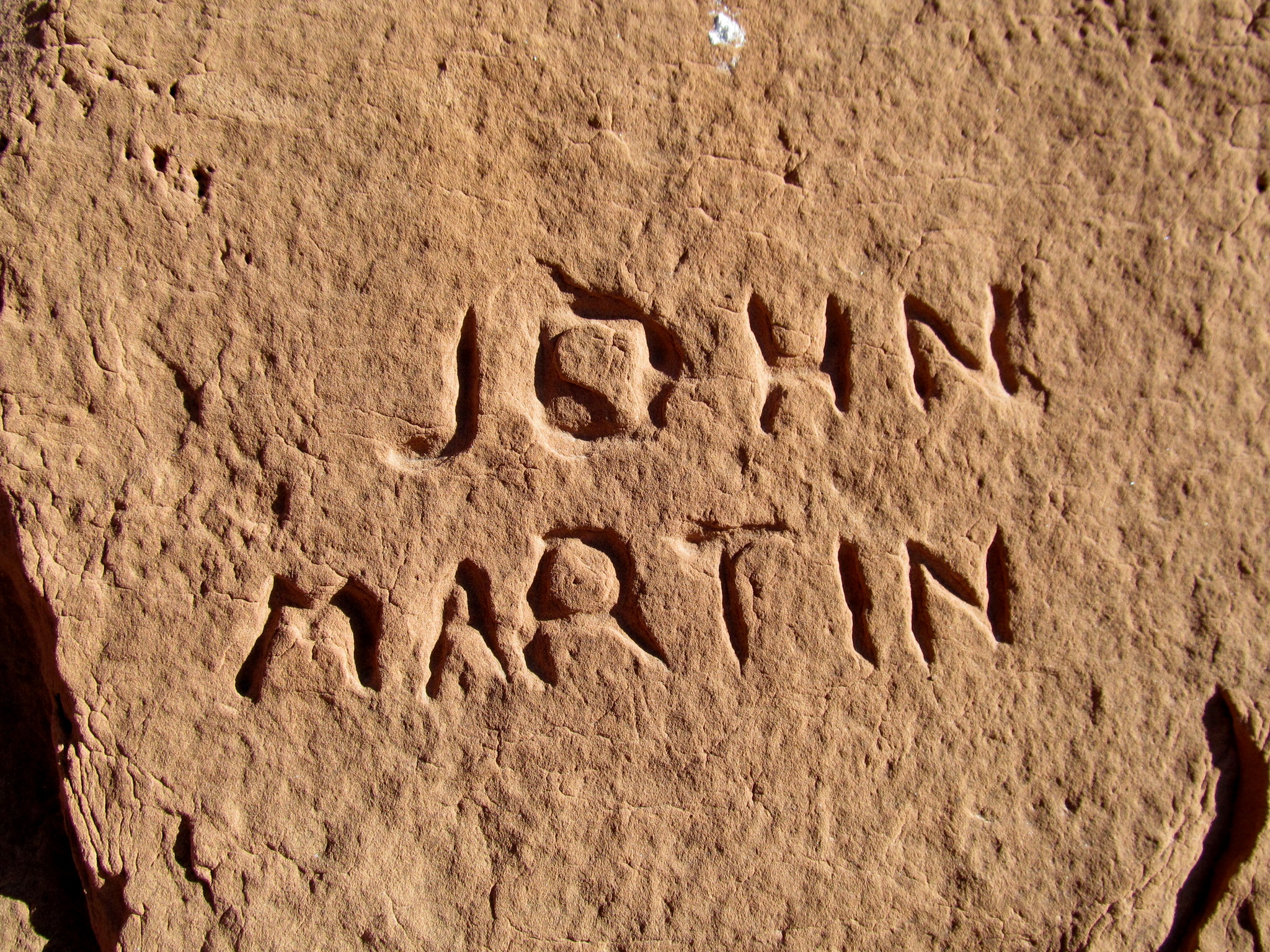 Photo: John Martin inscription