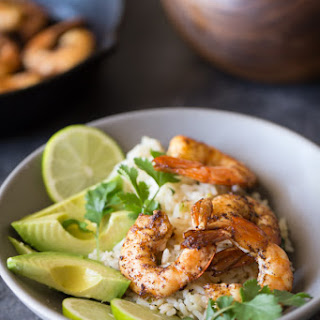 Cilantro Lime Rice Shrimp Bowl