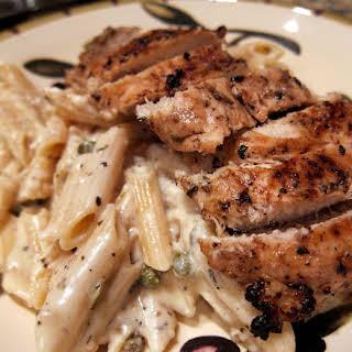 Creamy Grilled Chicken Piccata.
