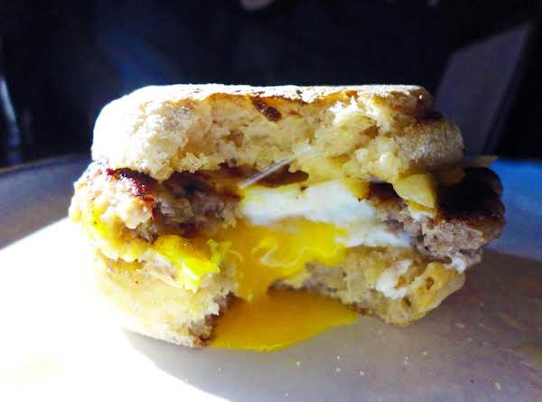 Sausage Egg & Cheese On An English Muffin Recipe