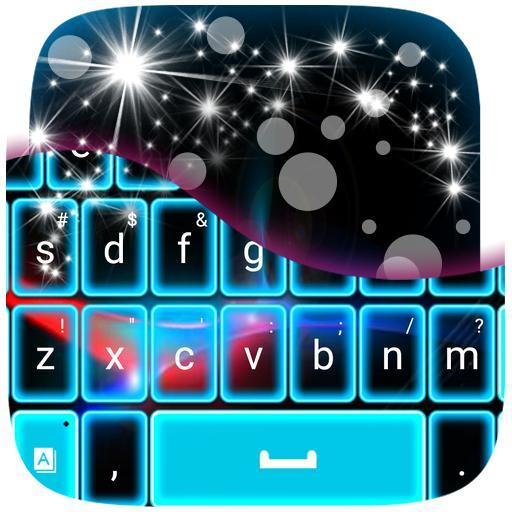 个人化の青色LEDキーボード LOGO-HotApp4Game