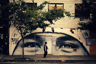 Photo: All eyes on you...  Lower East Side street art. New York City.  View the writing that accompanies this post here at this link on Google Plus:  https://plus.google.com/108527329601014444443/posts/6LNGUSpTNzt  View more New York City photography by Vivienne Gucwa here:  http://nythroughthelens.com/