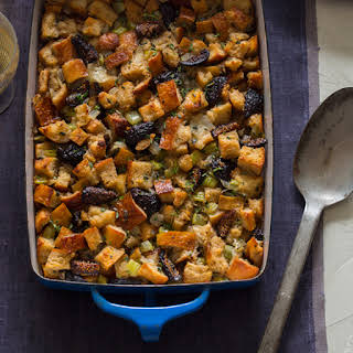 Fig Herb and Sausage Stuffing.