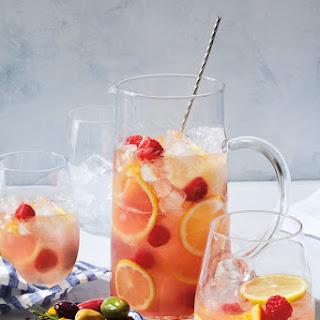 Rosé Sangria with Citrus and Raspberries.