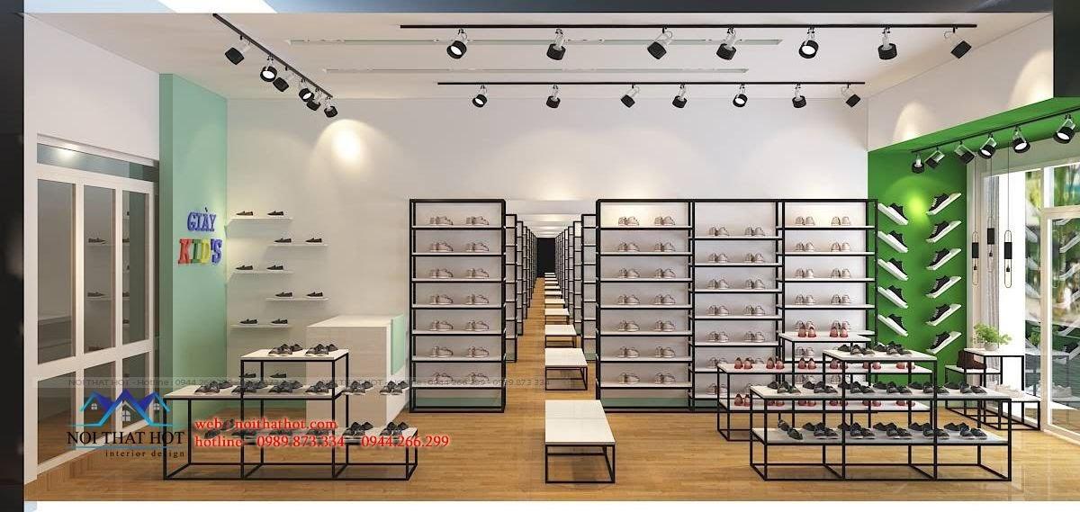thiết kế shop giày dép trẻ em chuyên nghiệp