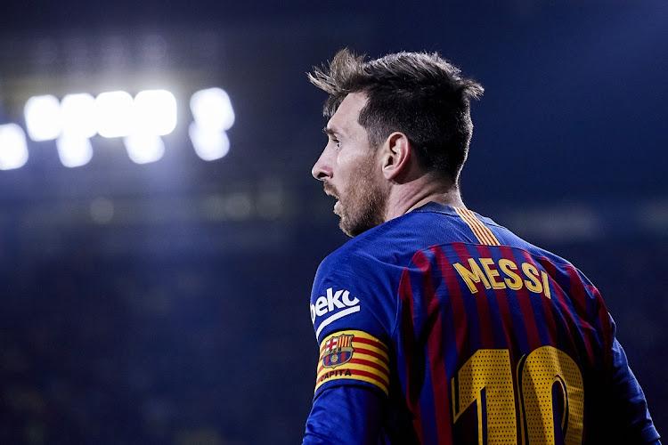 897b8812f3e Lionel Messi of FC Barcelona looks on during the La Liga match between  Villarreal CF on