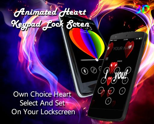 Heart Keypad Lock Screen