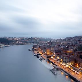 One bridge, two cities! by Pedro Ribeiro - City,  Street & Park  Vistas ( porto, bride, douro, vila nova de gaia, river, ponte )