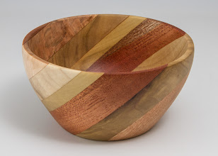 Photo: Ilya Zarorin - segmented bowl [poplar, oak, mahogany]