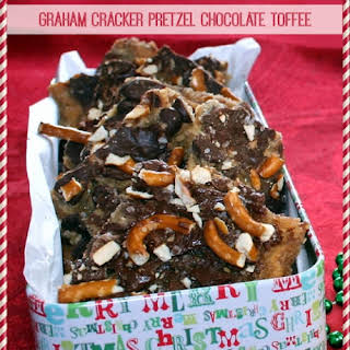 Graham Cracker Pretzel Chocolate Toffee.