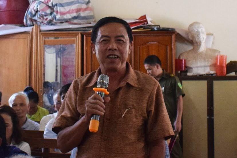 Một người dân đóng góp ý kiến cho lực lượng Công an tại diễn đàn.