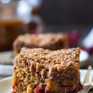Paleo Cranberry Orange Coffee Cake.