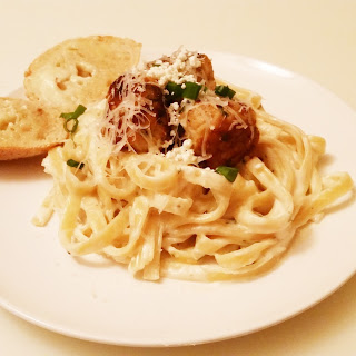 Goat Cheese Alfredo With Chicken Meatballs