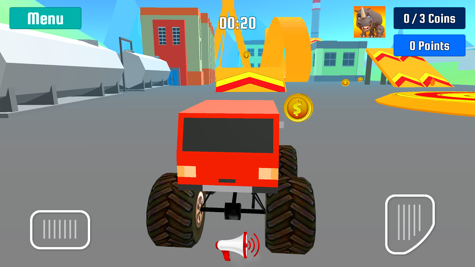 Monster Truck Stunt Speed Race by Kaufcom- screenshot