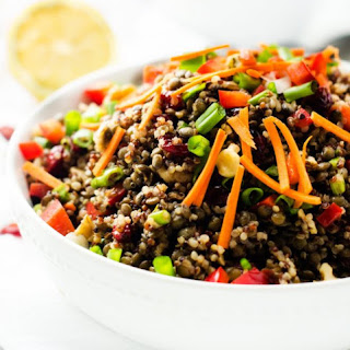 How to Make Lentil Salad with Quinoa and Maple Balsamic Vinaigrette Lunch