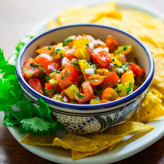 What To Do With Yellow Tomatoes And Yellow And Red Tomato Pico De Gallo.