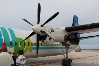 Photo: Avion Fokker 50 hacia Bonaire