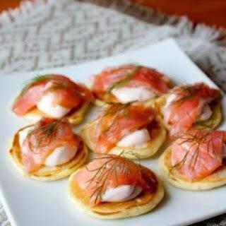 Mini Pancakes With Salmon