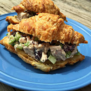 Chicken Salad with Dried Cranberries and Walnuts.