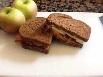 Elvis Eats An Apple Peanut Butter Sandwich