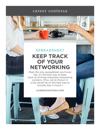networking tracker career contessa