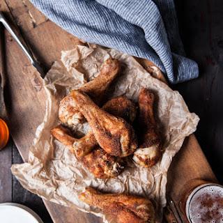 Beer Brined Rotisserie Spiced Chicken Legs