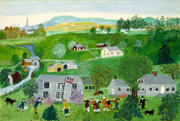 Summer Party (oil on masonite), Moses, Anna Mary Robertson (Grandma Moses) (1860-1961) / American, Museum of Fine Arts, Houston, Texas, USA, 65.4x45.4 cms / Kallir Research Institute/© Grandma Moses Properties Co / Bridgeman Images