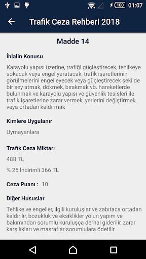 Trafik Ceza Rehberi 2018 screenshot 4