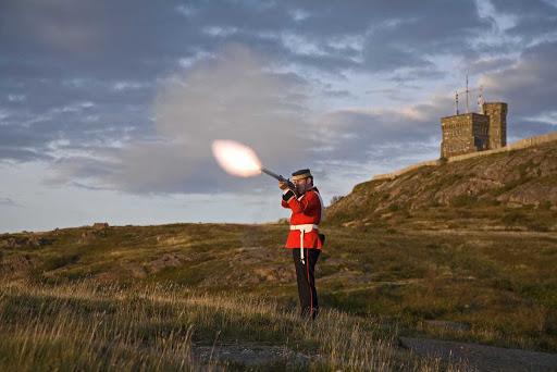 avalon-newfoundland-uniform.jpg - Dressed in traditional uniform on Avalon Peninsula, Newfoundland.